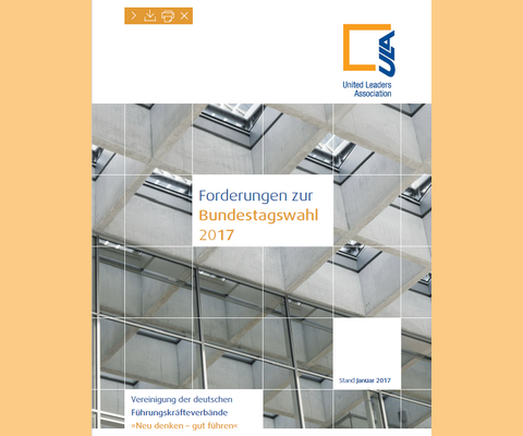 Cover Forderungen Bundestagswahl 2017